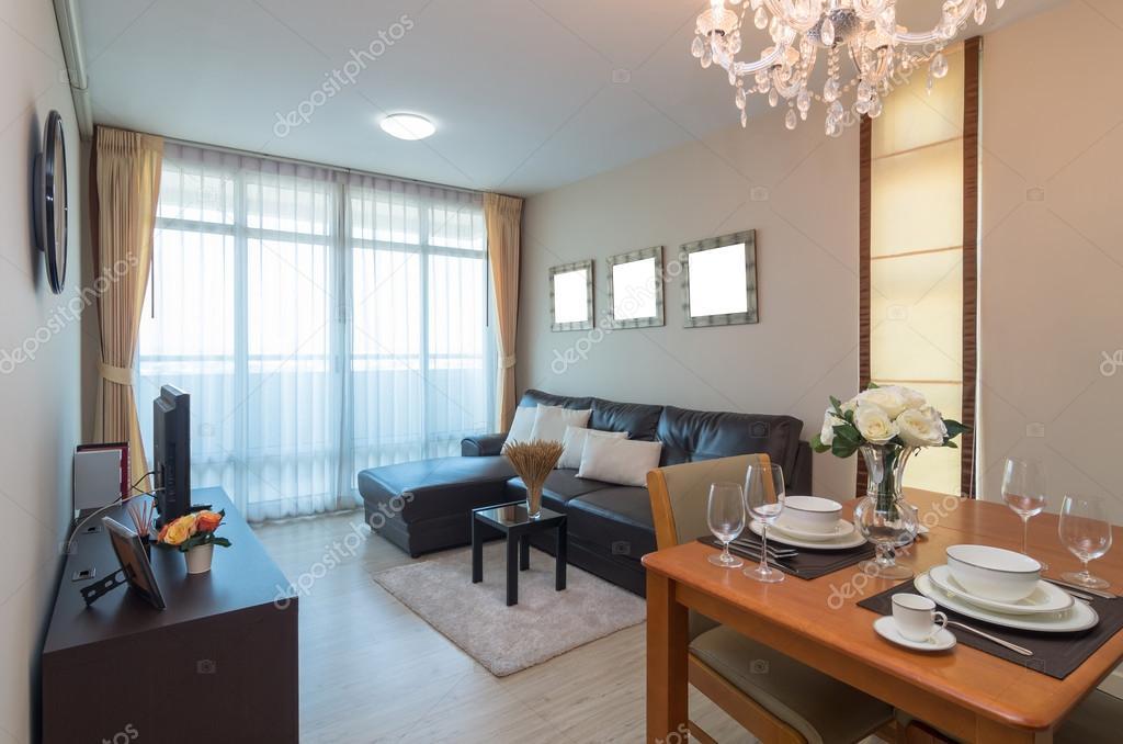 Lujo diseño Interior living comedor — Fotos de Stock © Tzido #97286742
