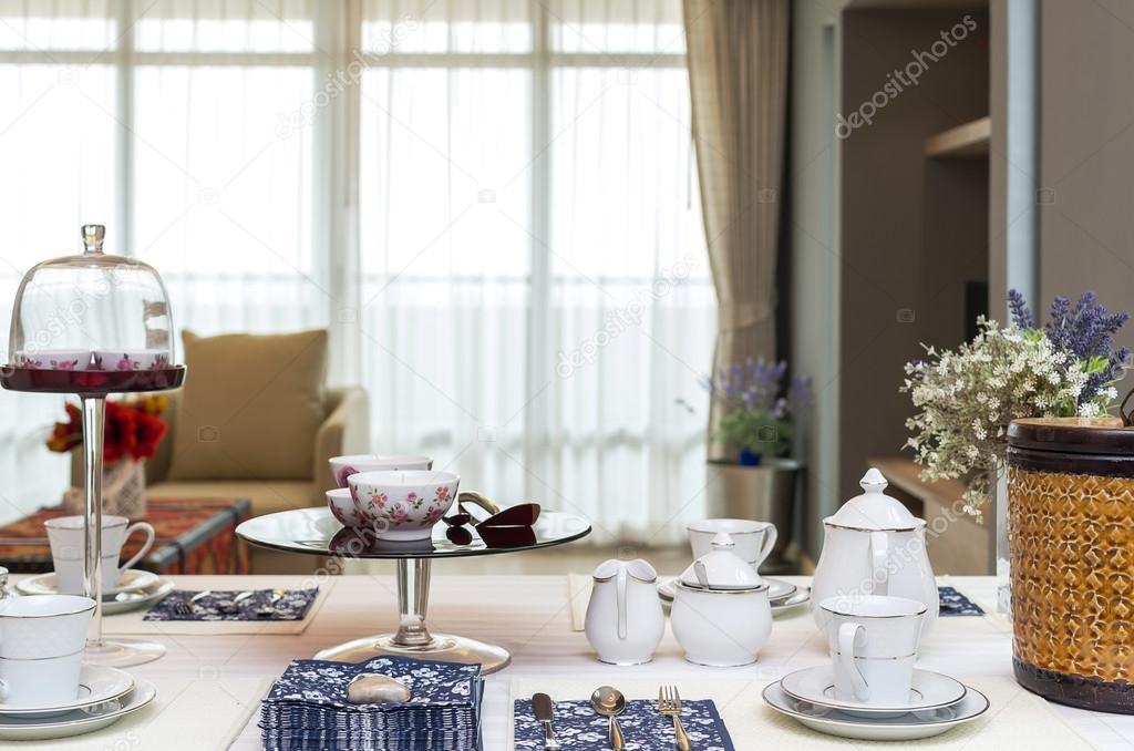 Restaurant met luxe interieur woonkamer achtergrond instellen ...