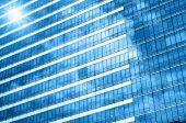 Fotografia Costruzione di vetro dei grattacieli, concetto di affari di architettura moderna di affari