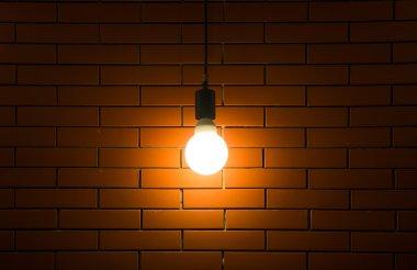 Luxury lighting decoration on brick wall background