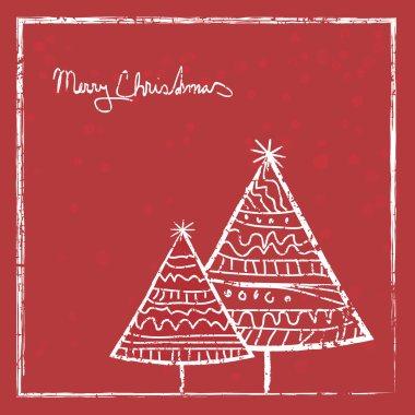 Art vintage Christmas Card