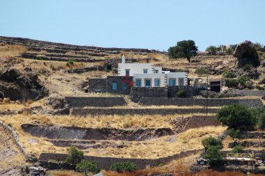 Modern country house on the island of Patmos