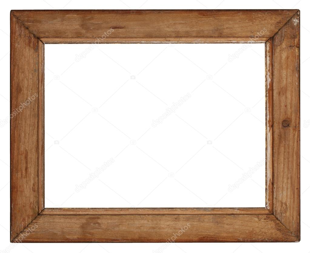 marco de madera vieja sobre fondo blanco — Fotos de Stock ...