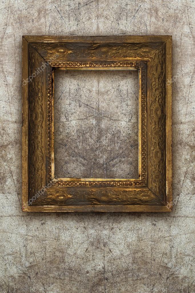Altes Bild Rahmen handgemachte Holz an Wand ruiniert Hintergrund ...