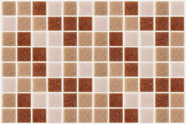 Tile mosaic square decorated with glitter red pink texture background