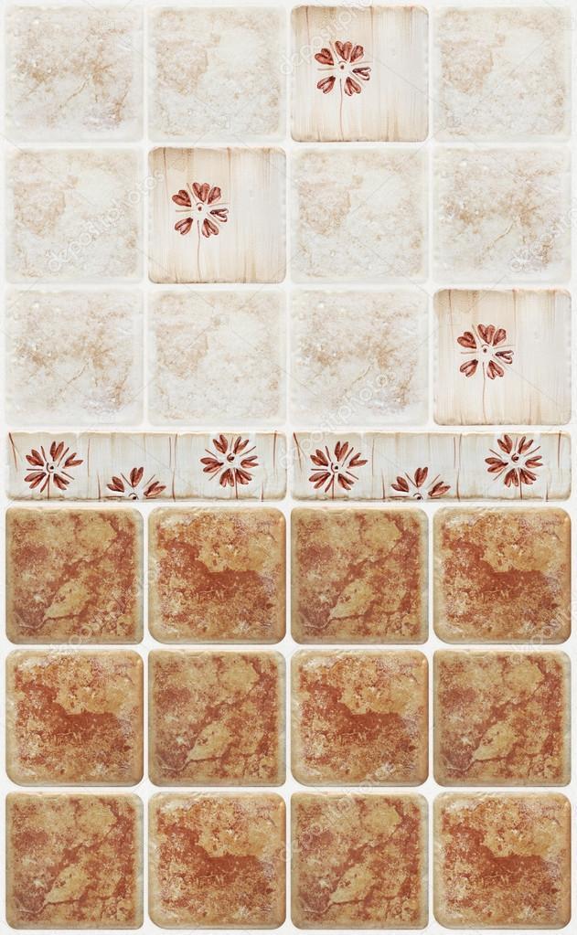 Braun Marmor Fliesen Mit Floralen Dekorationen U2014 Foto Von Amedeoemaja