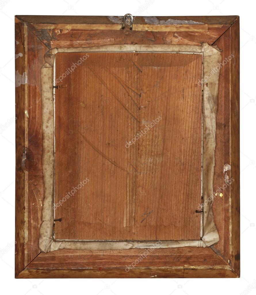 La parte posterior del marco de madera antiguo — Fotos de Stock ...