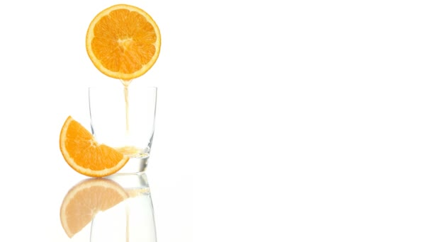 Squeezed orange juice poured into the glass