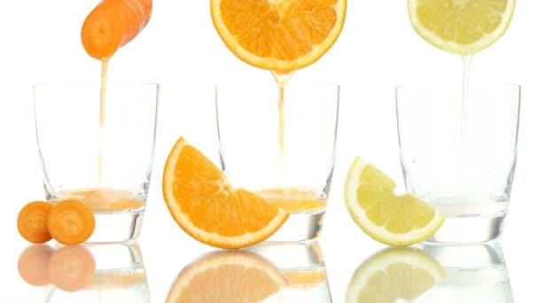 Karotka oranžové citrónové šťávy vitaminu a c e