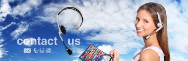 call center operator global international contact concept