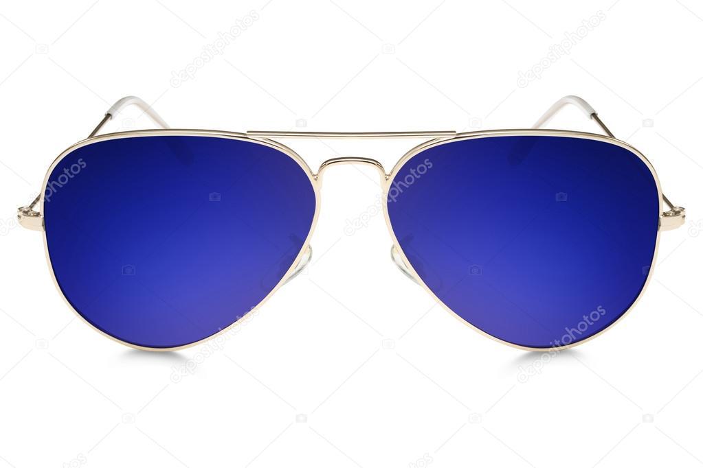 a60271efb2de8 Óculos de sol aviador isolados no fundo branco — Fotografia de Stock