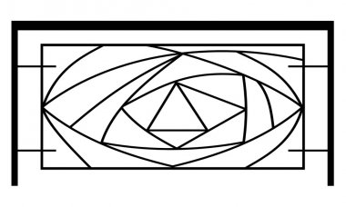 Railings with symbols in vector format