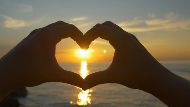 Sunset With Heart Shaped Hands Stock Video 169 Prostock