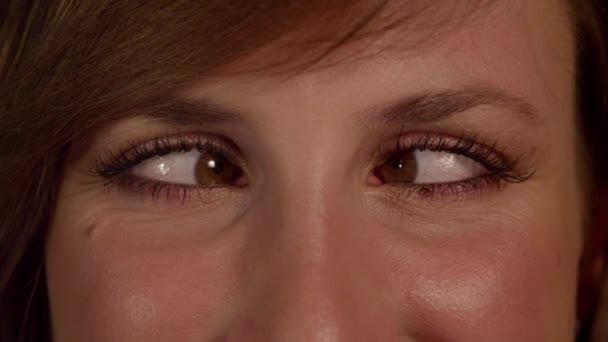 Woman squinting eyes