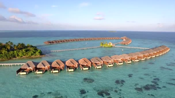 Overwater villas with private pools above the ocean