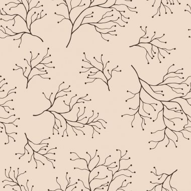 Seamless pattern  with flowers. Vector background icon