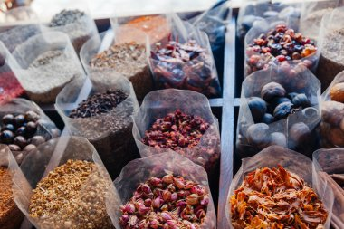 Various Spices At Spice Stall