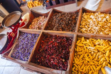 Spices At The Spice Souk Of Deira. Dubai, UAE
