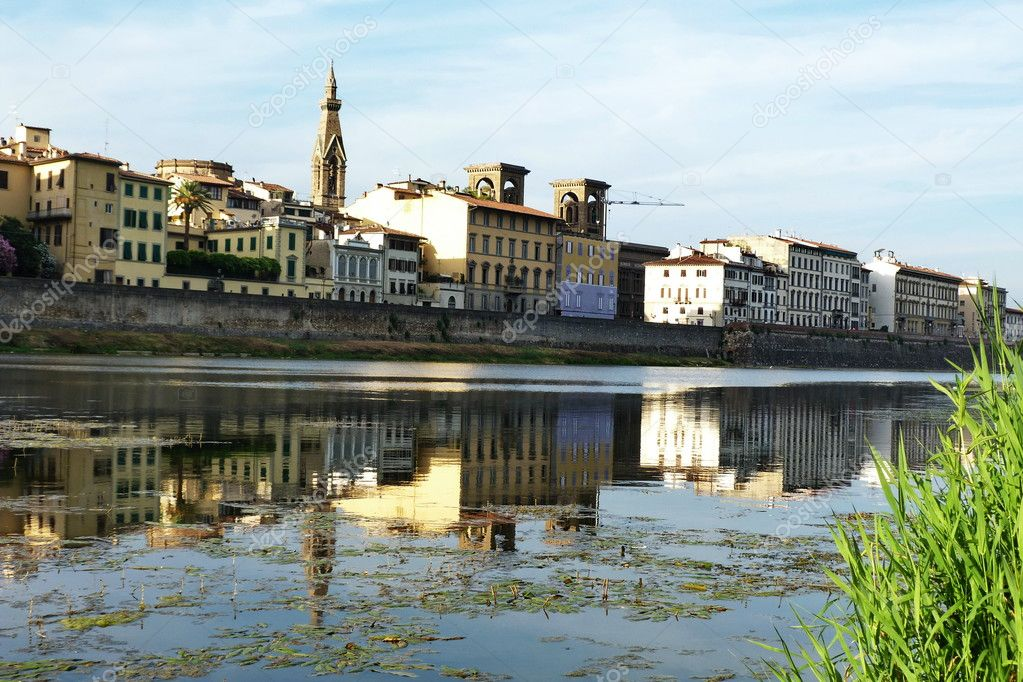 The river Arno at Florence, Italy