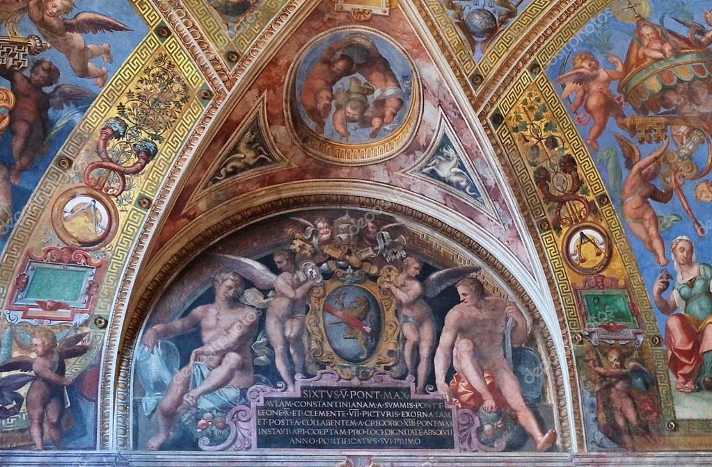 chambre de constantin chambres de rapha l les mus es du vatican rome italie photo. Black Bedroom Furniture Sets. Home Design Ideas