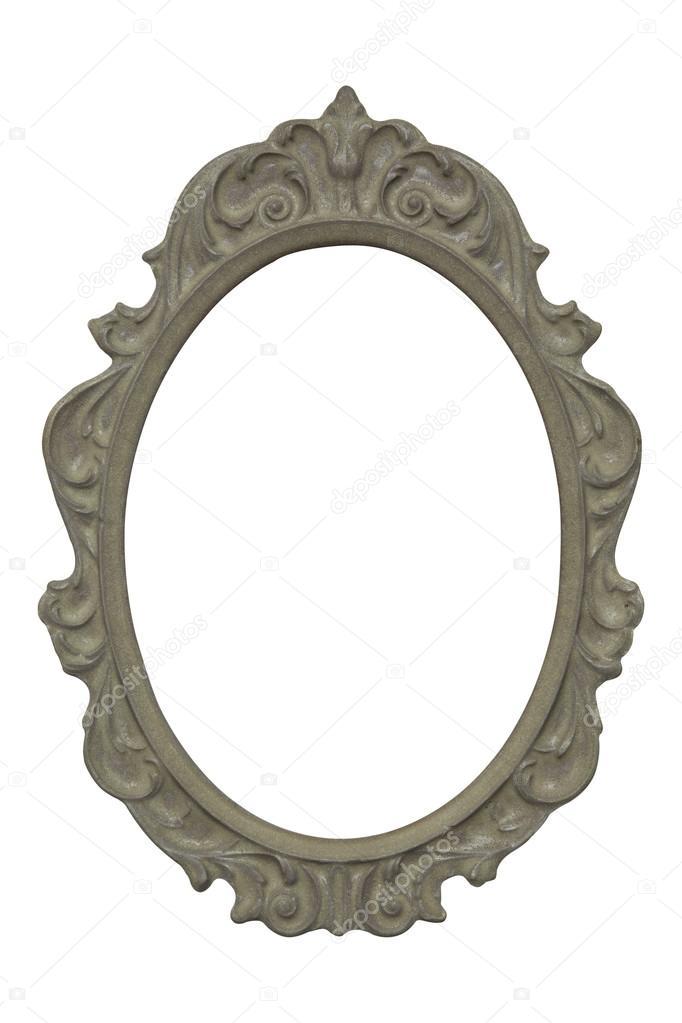 Vintage Stein Oval Bilderrahmen isoliert auf weißem Hintergrund ...