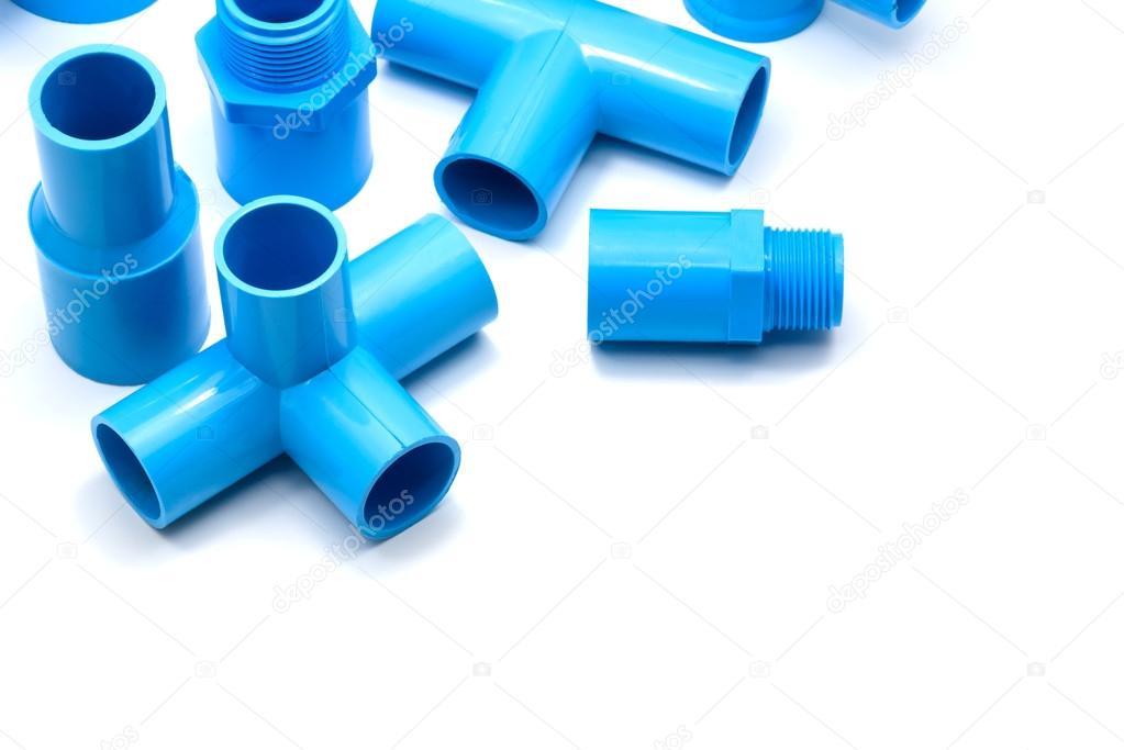 PVC-Rohr-Verbindungen Und Rohrschelle Isoliert