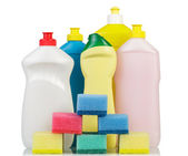 Fotografie Cleaning products on white