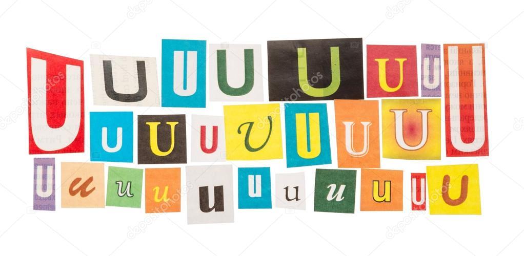U d couper les lettres ensemble photographie laboko - Lettre a decouper ...