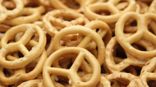 cookie cracker pretzel salted, top view