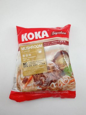 MANILA, PH - OCT 27 - Koka signature instant noodles mushroom flavor on October 27, 2020 in Manila, Philippines.