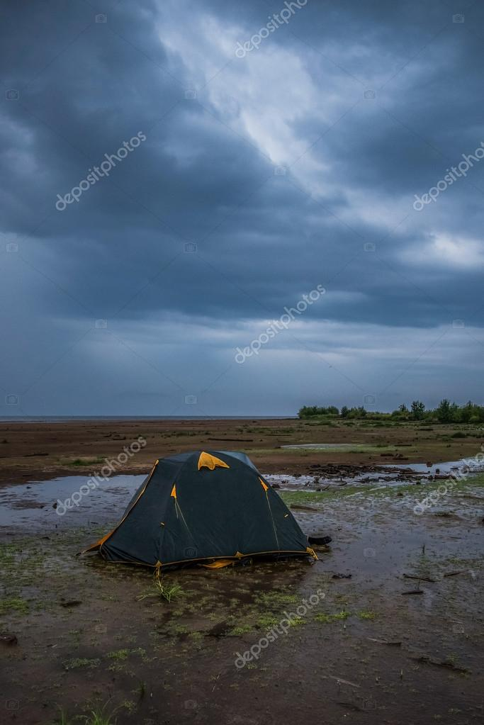 The tent after the storm