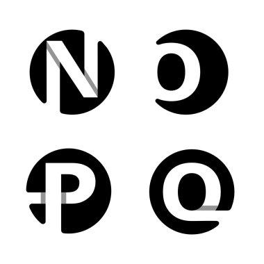 Capital letters N, O, P, Q.