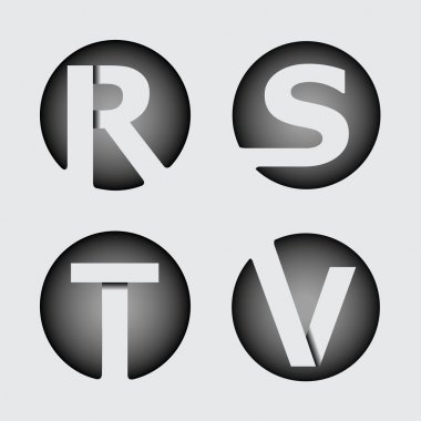 Capital letters R, S, T, V