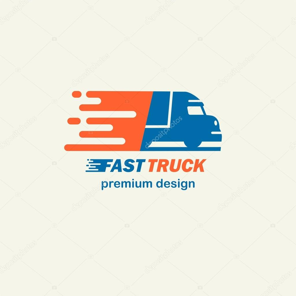fast truck template for logos stock vector pgmart 121878346