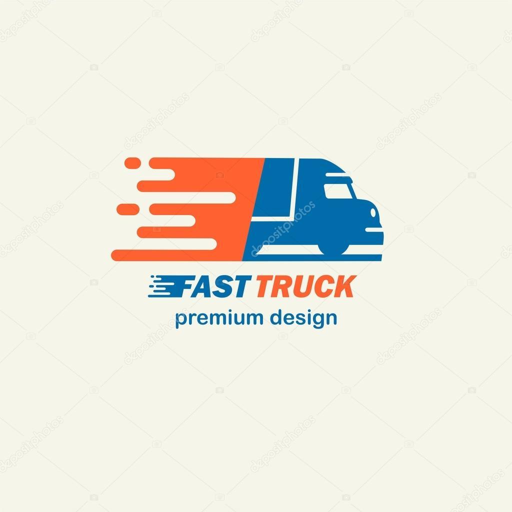 Truck Template | Fast Truck Template For Logos Stockvektor C Pgmart 121878346