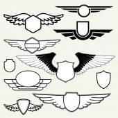 Fotografie Retro Vintage logotypů s křídly