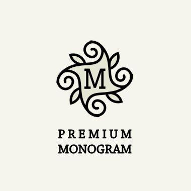 Stylish floral monogram design