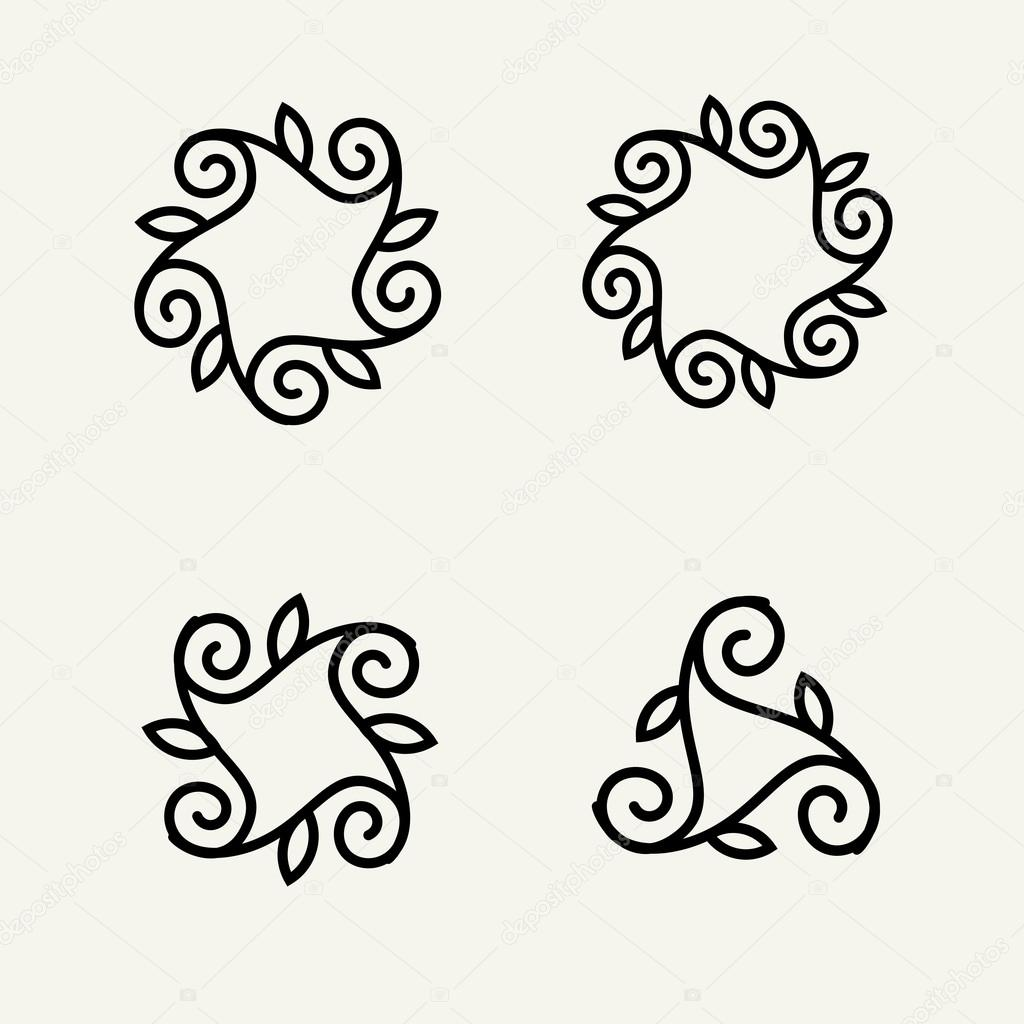 Lineart logo design elements