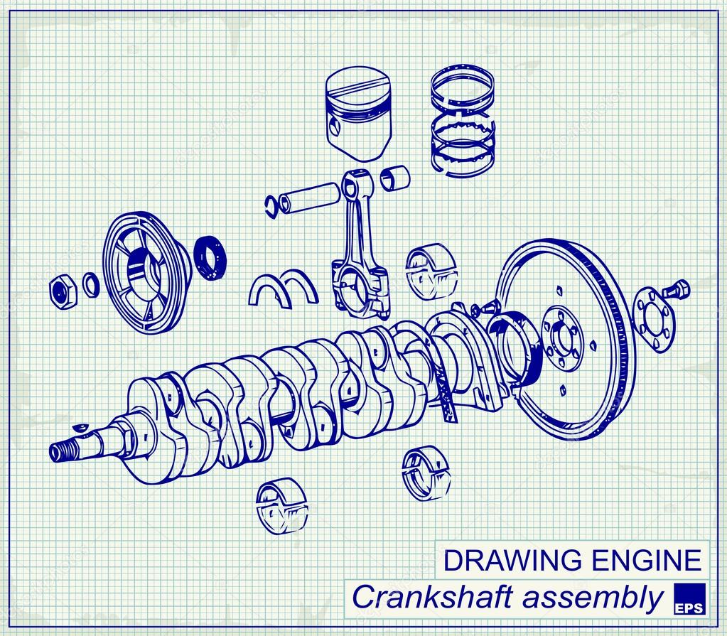Incredible Drawing Old Engine Stock Vector C Pgmart 59366727 Wiring 101 Cabaharperaodorg