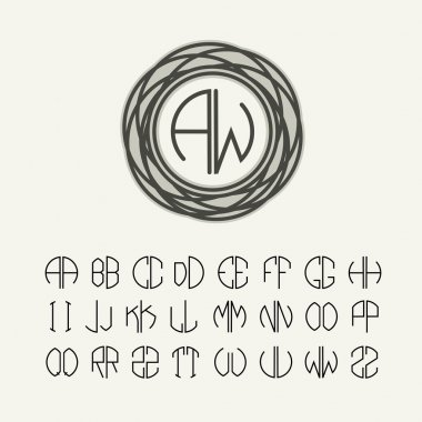 Letters to create monograms