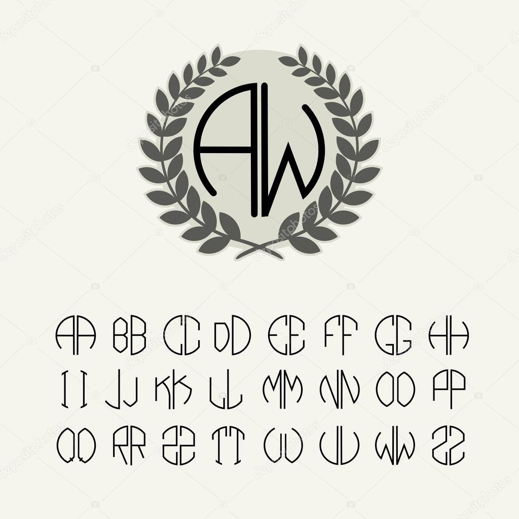 Satz der Vorlage Briefe Monogramm erstellen — Stockvektor © PGMart ...