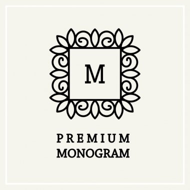 Stylish  graceful monogram
