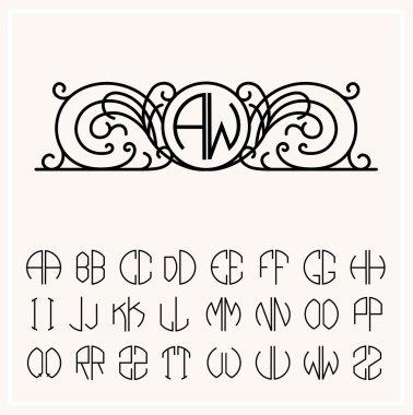 Stylish graceful monogram