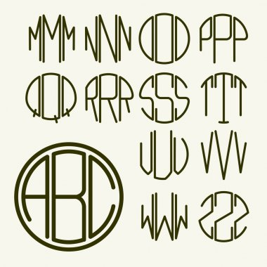 Letters for monogram, logo design