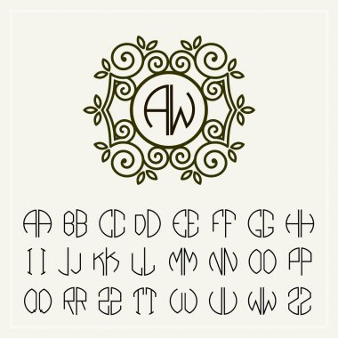 Art letters  for monogram  design