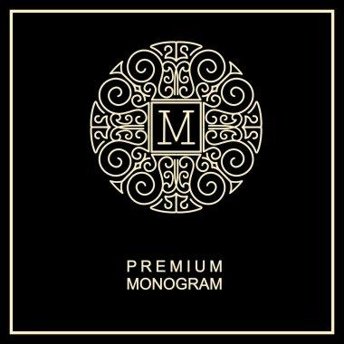 Monogram, art logo design