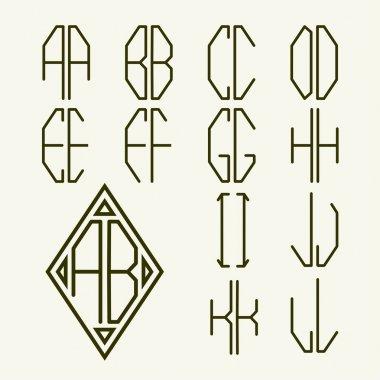 letters for  monogram   design