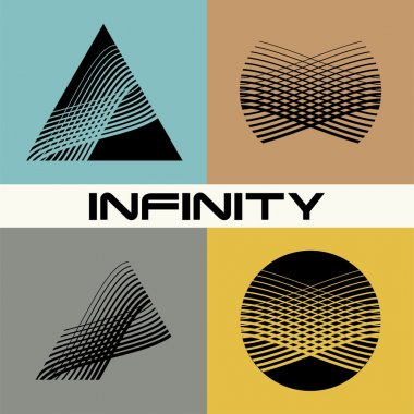 Abstract infinity logo  template