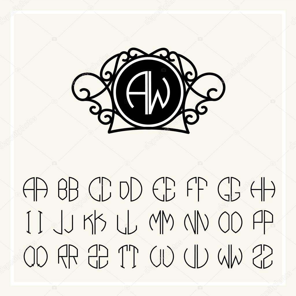 Kunst-Briefe für Monogramm-design — Stockvektor © PGMart #69298477