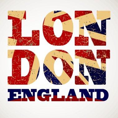 London city typography, t-shirt graphics